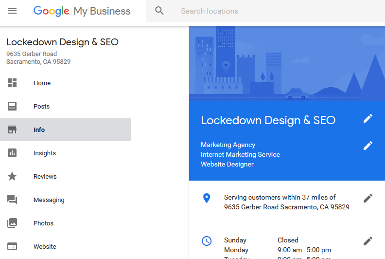 google my business locations old