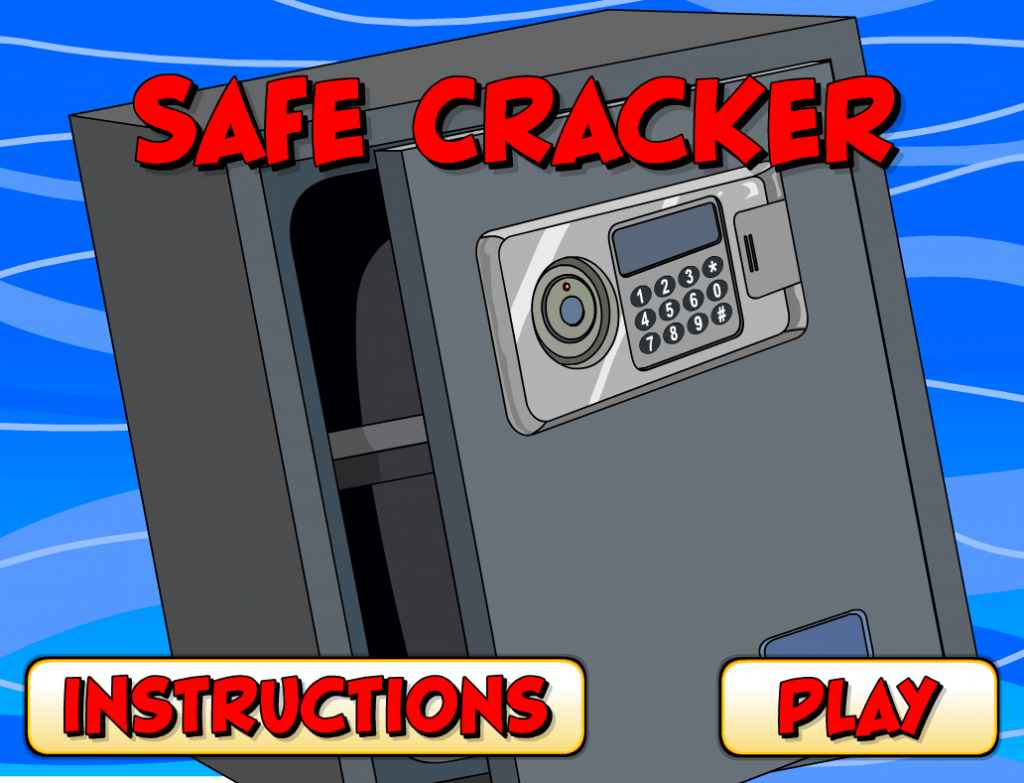 Safe Cracker Memory Game