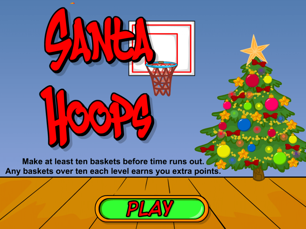 Santa Hoops Christmas Basketball Game