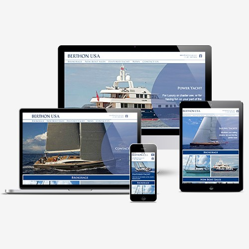 Berthon USA Luxury Yachts - Responsive Web Design