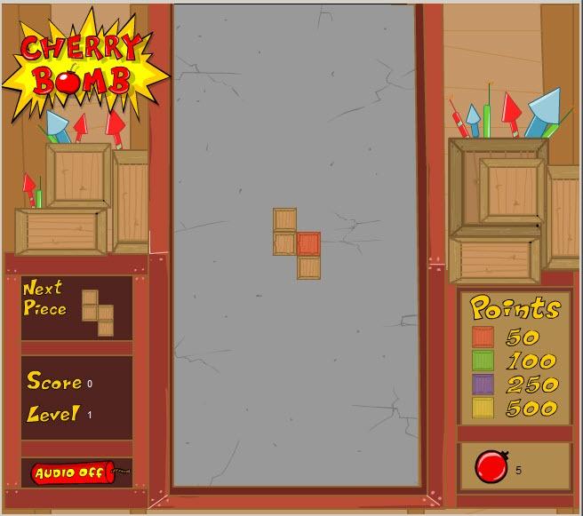 Fireworks Tetris custom flash game