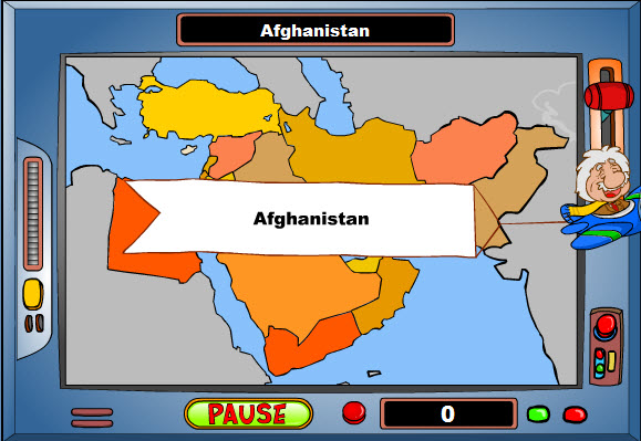 Customizable Geography Game