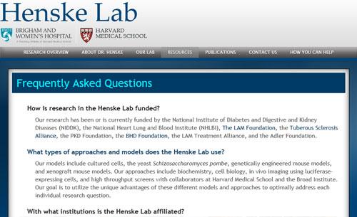 Henske Lab FAQ Page
