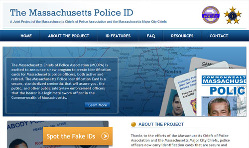 Massachusetts Police ID Home