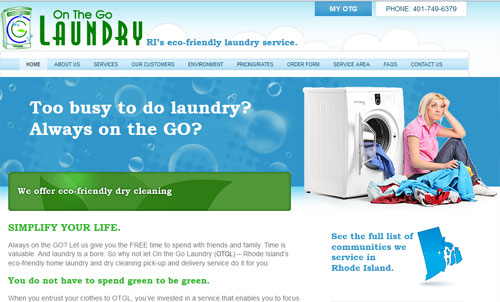 On the Go Laundry Home Page