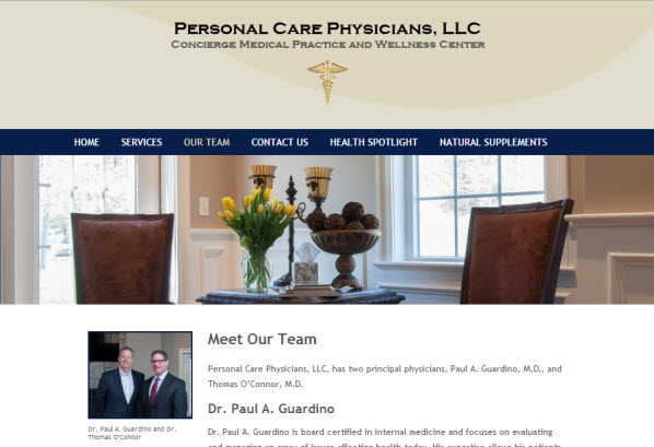 Personal Care Physicians - about Page