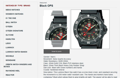 Saltzman Watches Product Page