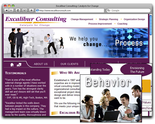 Excalibur Consulting - Homepage Design