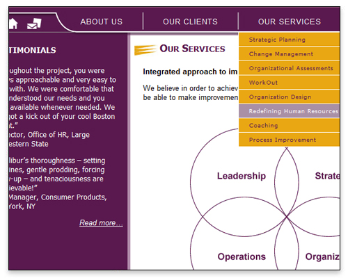 Excalibur Consulting - Services Page Close-up