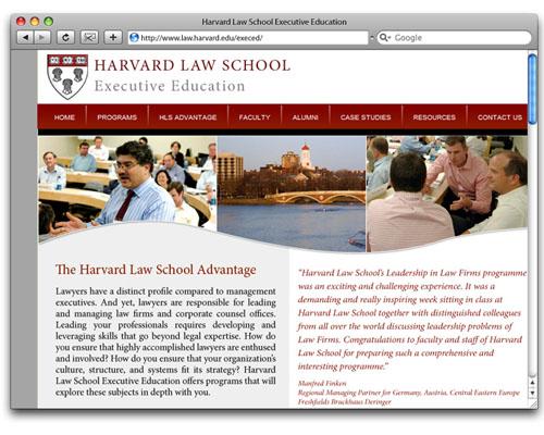 HLS Executive Education - Homepage Design