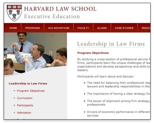 HLS Executive Education - Program Page Close-up
