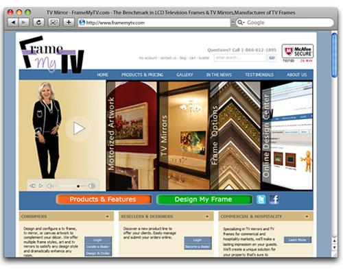Frame My TV - Homepage Design