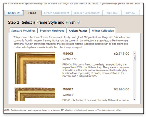 Frame My TV - Custom Application