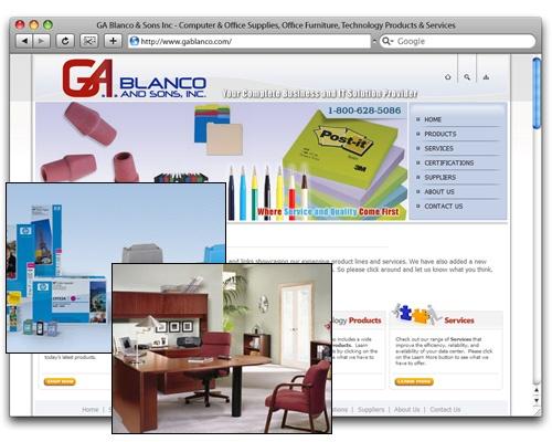 G.A. Blanco & Sons, Inc. - Homepage Design