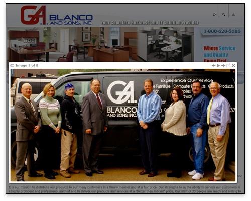 G.A. Blanco & Sons, Inc. - Photo Lightbox Sample