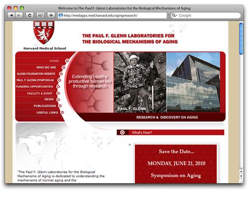 Paul F. Glenn Laboratories - Homepage Design