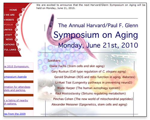 Paul F. Glenn Laboratories - Annual Symposium on Aging Design Element Close-up