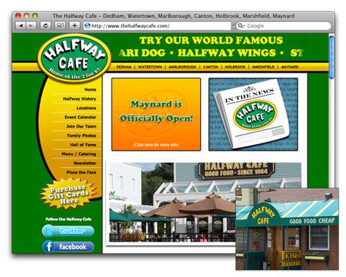 The Halfway Cafe - Homepage Design