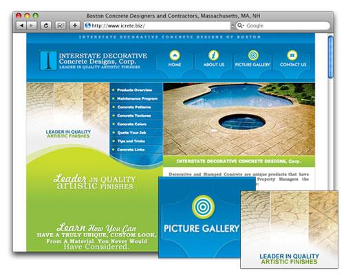 Icrete - Homepage Design