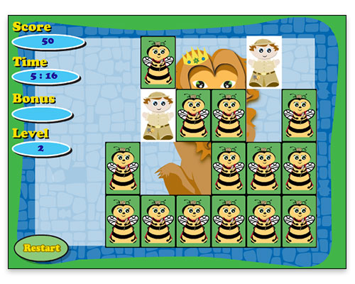 Jubilee Jam - Concentration Game (Gameplay Screen)