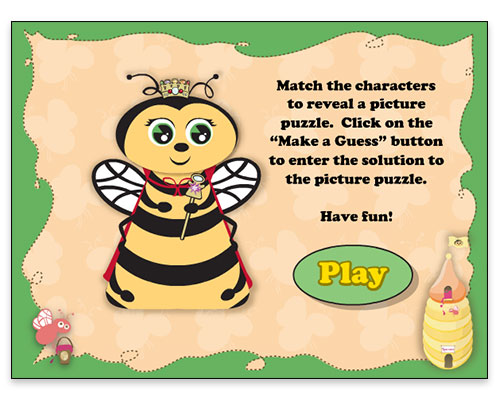 Jubilee Jam - Concentration Game (Instruction Screen)