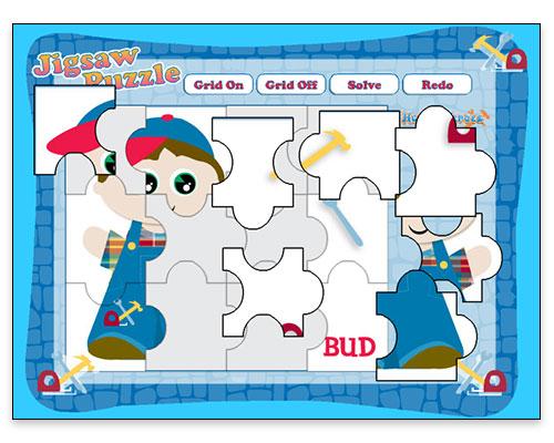 Jubilee Jam - Jigsaw Puzzle Game (Gameplay Screen - Bud Character)