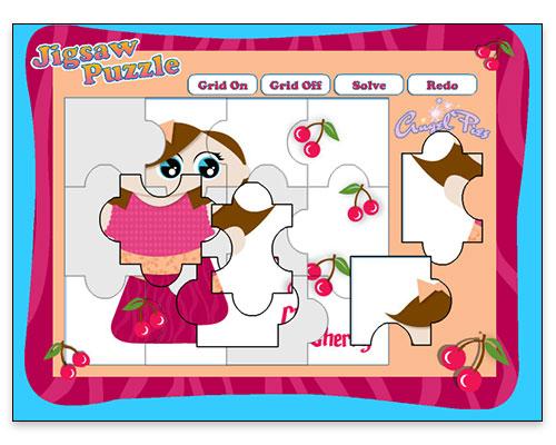 Jubilee Jam - Jigsaw Puzzle Game (Gameplay Screen - Cherry Character)