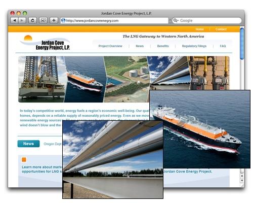 Jordan Cove Energy Project, L.P. - Homepage Design