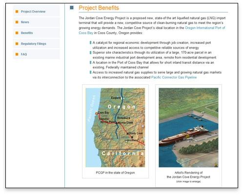 Jordan Cove Energy Project, L.P. - Benefits Page Design