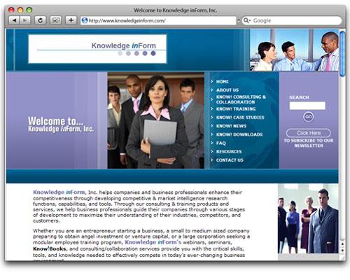 Knowledge inForm, Inc. - Homepage Design