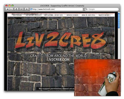 Liv2Cre8 - Homepage Design