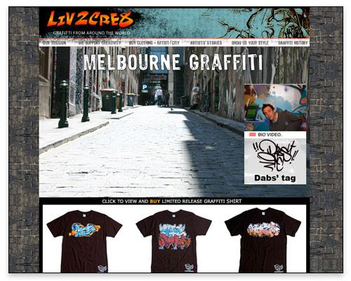 Liv2Cre8 - City/Artist Page Design