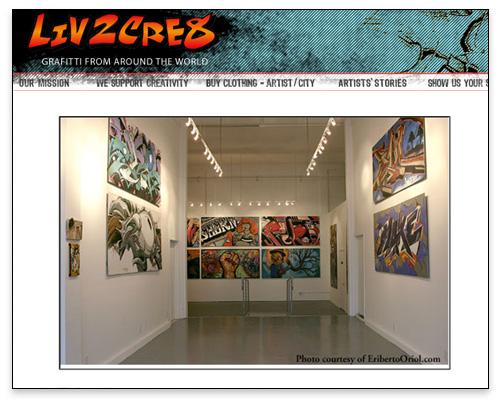 Liv2Cre8 - Supporting Graffiti Artists Creativity Page Close-up