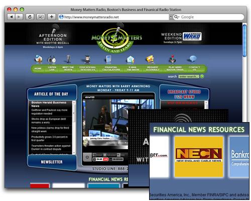 Money Matters Radio - Homepage Design