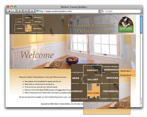 Modern Yankee Builders - Homepage Design
