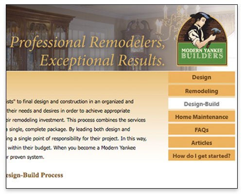 Modern Yankee Builders - Design-Build Page Close-up