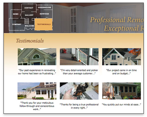 Modern Yankee Builders - Testimonials Page Close-up