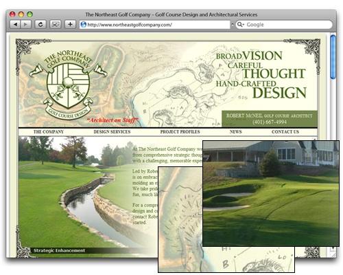 The Northeast Golf Company - Homepage Design