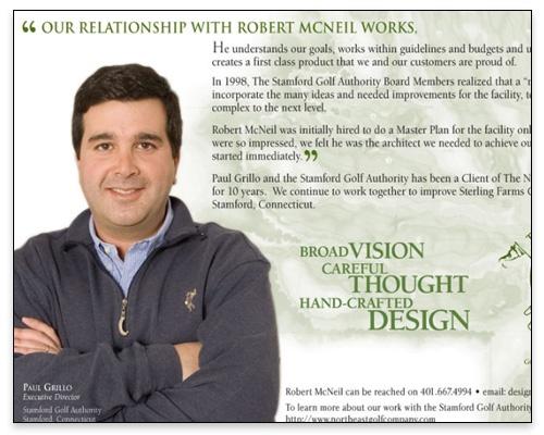 The Northeast Golf Company - Ad Campaign Lightbox Sample