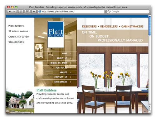 Platt Builders - Homepage Design
