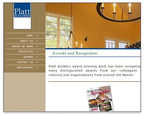 Platt Builders - Awards Page Close-up