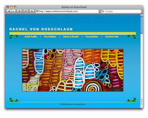 Rachel von Roeschlaub - Homepage Design