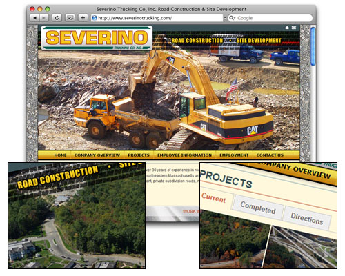 Severino Trucking - Homepage Design