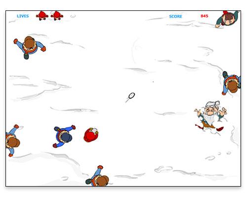 Snowball Warrior Interactive Game - Gameplay Screen