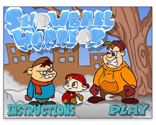 Snowball Warrior Interactive Game - Start Screen
