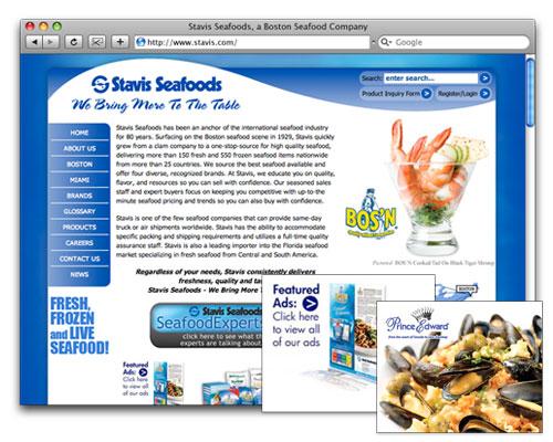 Stavis Seafoods - Homepage Design