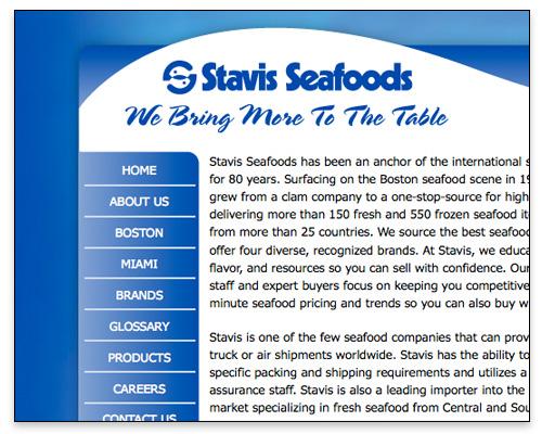 Stavis Seafoods - Homepage Close-up