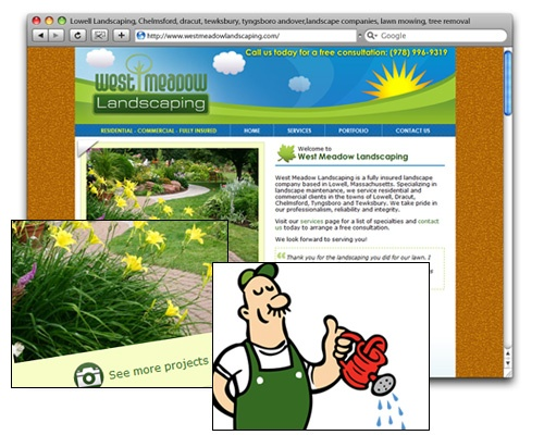 West Meadow Landscaping - Homepage Design